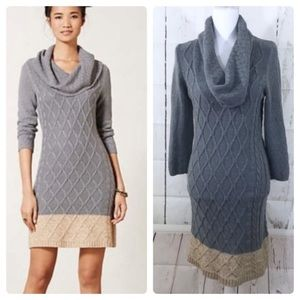 Anthro Sparrow Crowl Neck Sweater Dress